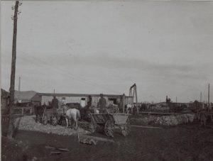 Zufahrt zur Fassungsstelle in Perehinsko Februar 1916