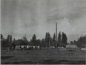 Korpstrainplatz des 8.Korpskommandos in Perehinsko, Februar 1916